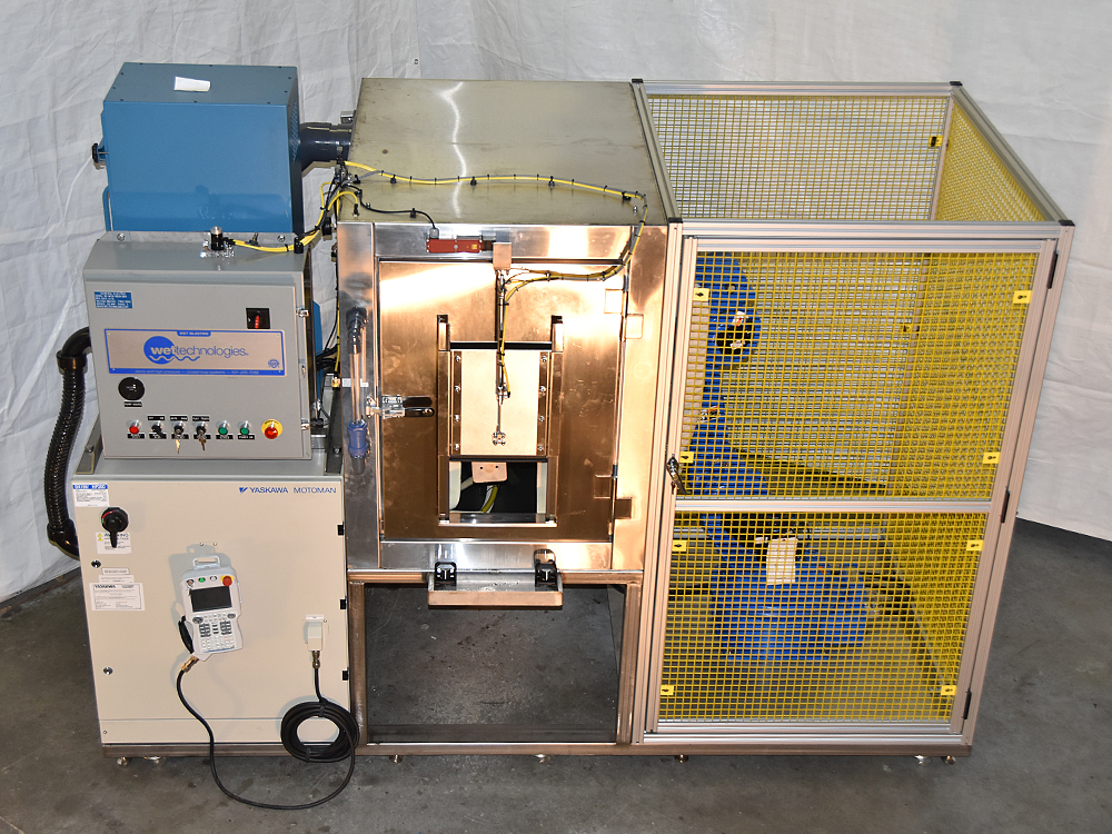 Complete Pre-Programmed Robotic Wet Blast System Ready to Ship and Install