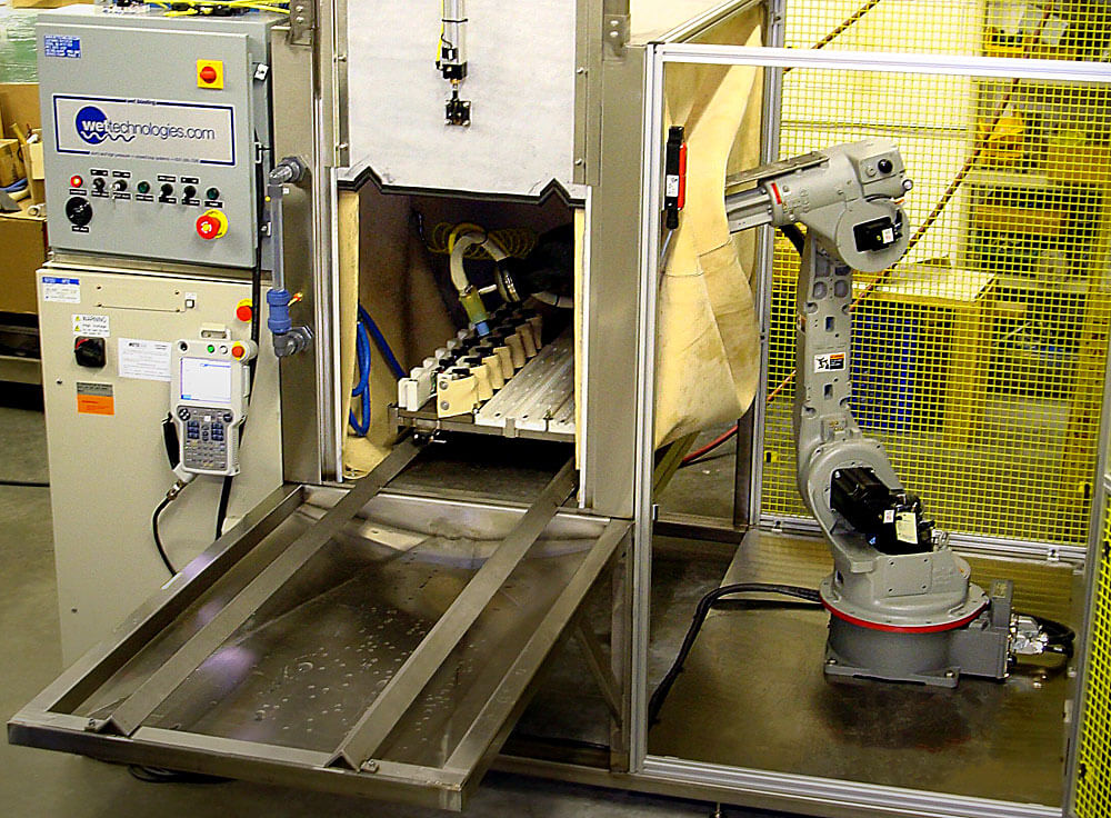 Exterior loaded, 6-Axis Batch Shuttle Robotic System