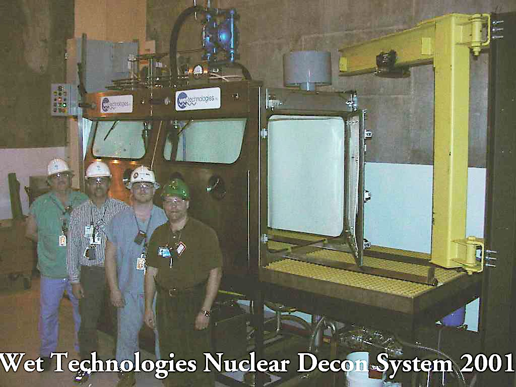The Wet Tech team at nuclear decontamination wet blast station