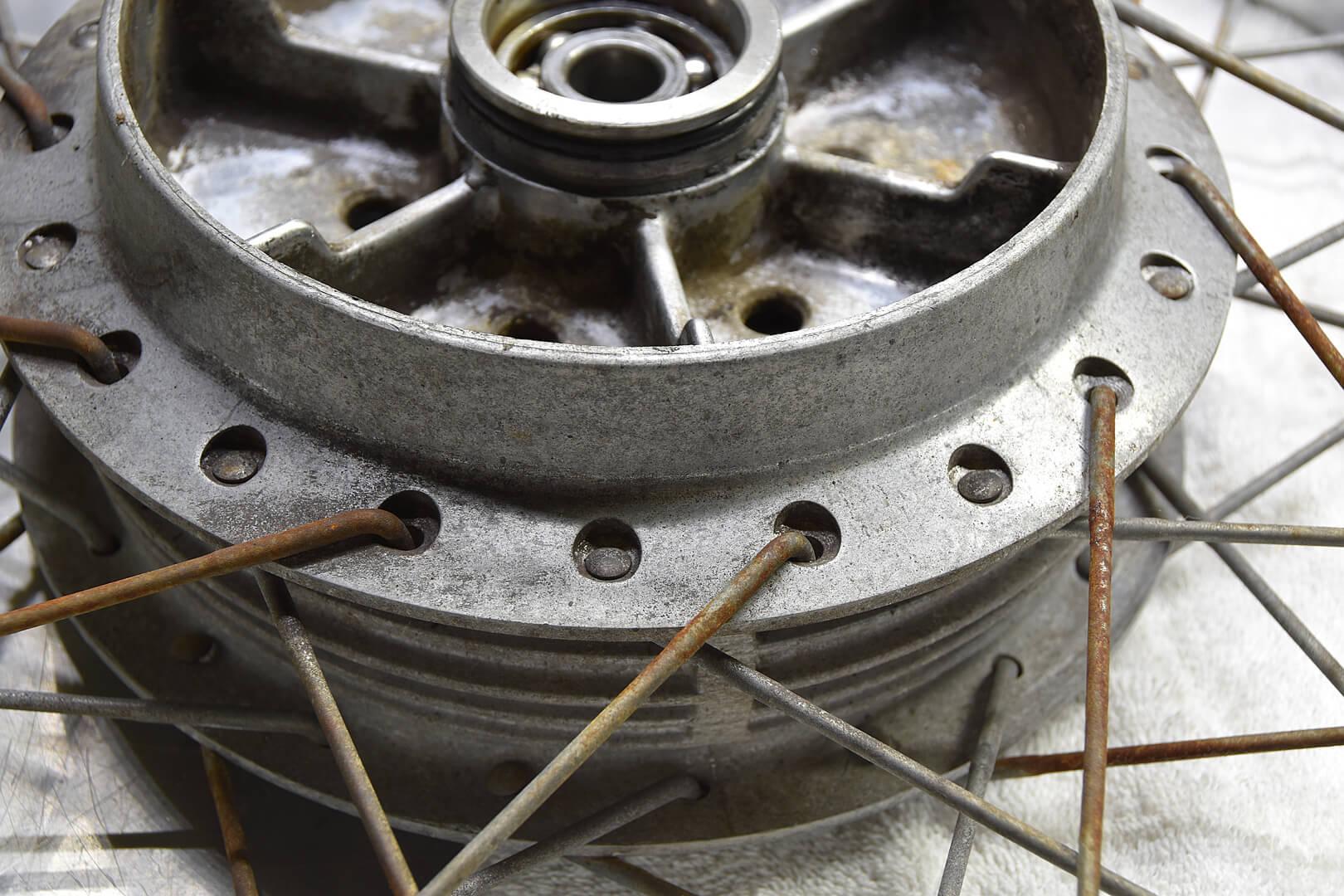 Wheel reman--before